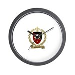 BABINEAU Family Crest Wall Clock