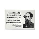 Charles Dickens 24 Rectangle Magnet