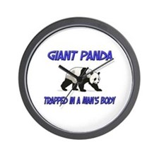 Giant Panda Trapped In A Man's Body Wall Clock