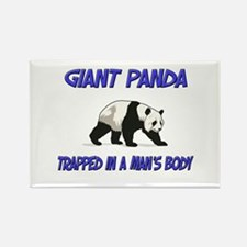 Giant Panda Trapped In A Man's Body Rectangle Magn