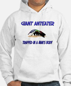 Giant Anteater Trapped In A Man's Body Hoodie