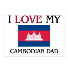 I Love My Cambodian Dad Postcards (Package of 8)