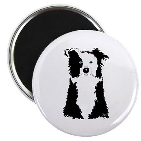 """White Border Collie 2.25"""" Magnet (10 pack)"""
