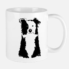 White Border Collie Mug