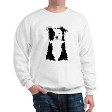 White Border Collie Sweatshirt