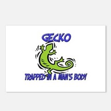 Gecko Trapped In A Man's Body Postcards (Package o