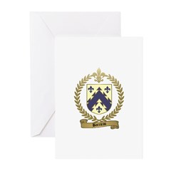 BARRIEAU Family Crest Greeting Cards (Pk of 10