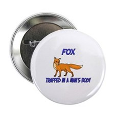 """Fox Trapped In A Man's Body 2.25"""" Button (10 pack)"""
