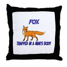 Fox Trapped In A Man's Body Throw Pillow
