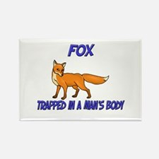Fox Trapped In A Man's Body Rectangle Magnet
