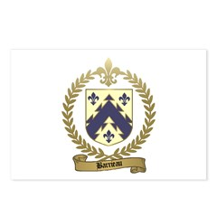 BARRIEAU Family Crest Postcards (Package of 8)