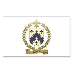BARRIEAU Family Crest Rectangle Sticker
