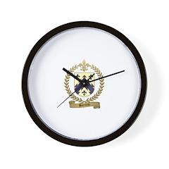 BARRIEAU Family Crest Wall Clock