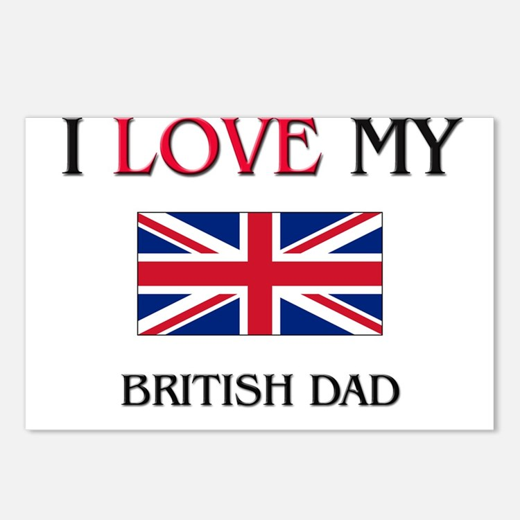 I Love My British Dad Postcards (Package of 8)