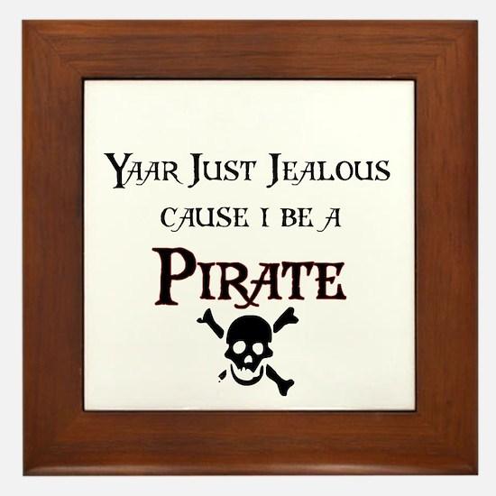 I be a Pirate Framed Tile