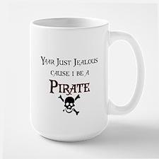 I be a Pirate Large Mug