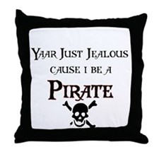 I be a Pirate Throw Pillow
