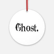 Grunge Ghost Ornament (Round)