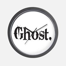 Grunge Ghost Wall Clock