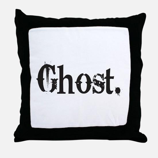 Grunge Ghost Throw Pillow
