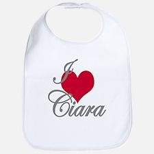 I love (heart) Ciara Bib