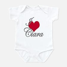 I love (heart) Ciara Infant Bodysuit