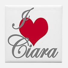 I love (heart) Ciara Tile Coaster