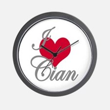 I love (heart) Cian Wall Clock