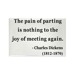 Charles Dickens 23 Rectangle Magnet (100 pack)