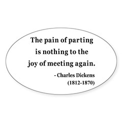 Charles Dickens 23 Oval Decal