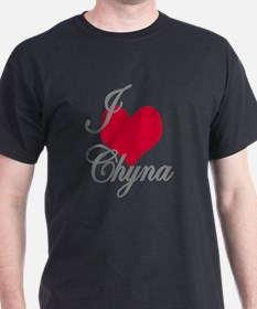 I love (heart) Chyna T-Shirt