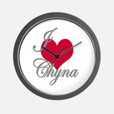 I love (heart) Chyna Wall Clock
