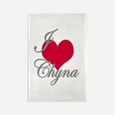I love (heart) Chyna Rectangle Magnet