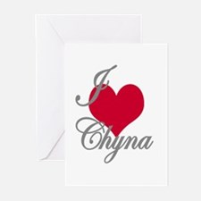 I love (heart) Chyna Greeting Cards (Pk of 20)