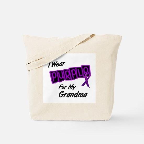 I Wear Purple 8 (Grandma) Tote Bag