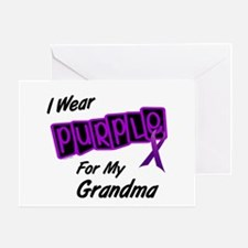 I Wear Purple 8 (Grandma) Greeting Card
