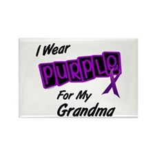 I Wear Purple 8 (Grandma) Rectangle Magnet