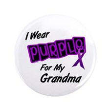 "I Wear Purple 8 (Grandma) 3.5"" Button"