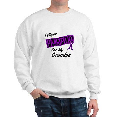 I Wear Purple 8 (Grandpa) Sweatshirt