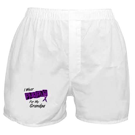 I Wear Purple 8 (Grandpa) Boxer Shorts