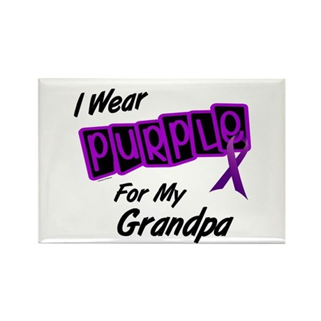 I Wear Purple 8 (Grandpa) Rectangle Magnet