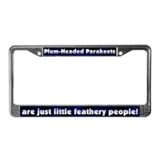 Feathery Ppl Plumhead Parakeet License Plate Frame