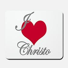 I love (heart) Christo Mousepad