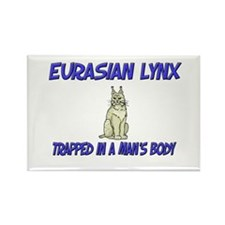 Eurasian Lynx Trapped In A Man's Body Rectangle Ma