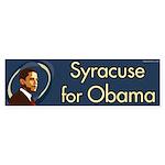 Syracuse for Obama bumper sticker