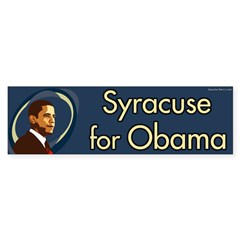 Syracuse for Obama bumper sticker