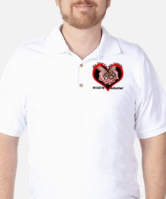 My Heart's in my Hands Squirrel Golf Shirt
