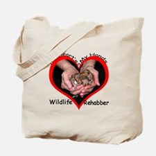 My Heart's in my Hands Squirrel Tote Bag