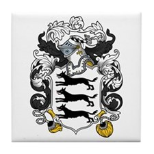 Lovett Family Crest Tile Coaster