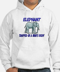 Elephant Trapped In A Man's Body Hoodie